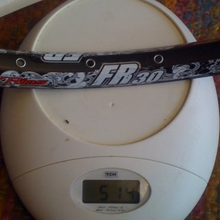 "Gewicht Alex Rims Felge FR30 26"" / 559x23 / 32 Loch"