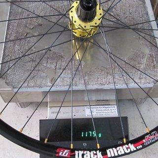 """Gewicht Fun Works Systemlaufräder 4Way DH + Track Mack Evo 26"""", VR: 100/15, HR: 142/12"""