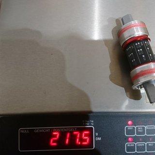 Gewicht Token Innenlager JIS Hohl-Achse Stahl 4-kant, 68/113,5mm, BSA JIS