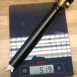 Gewicht Fox Sattelstütze höhenverstellbar Fox Transfer 30,9 mm, 125 mm 30,9 mm