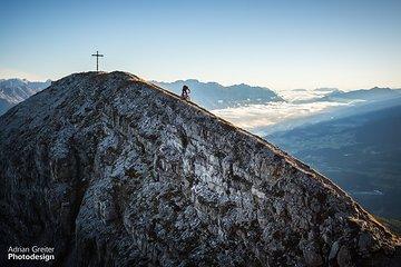 """Gipfelabfahrt nach """"nebliger Aussicht"""""""
