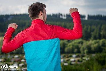 Das Jacket bietet insgesamt viel Bewegungsfreiheit