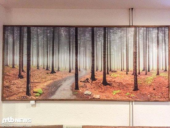 Sphärische Bilder an der Wand