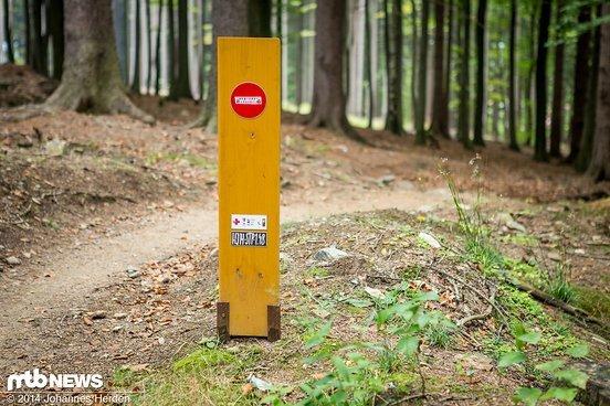 Minimalistisch, aber effektiv: falsche Trail-Richtung!