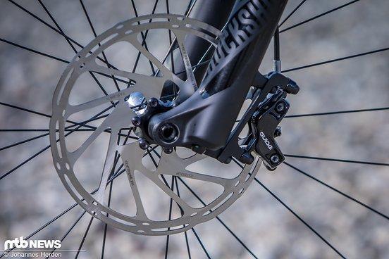 SRAM Guide R-Bremsen sorgen für die nötige Bremskraft.