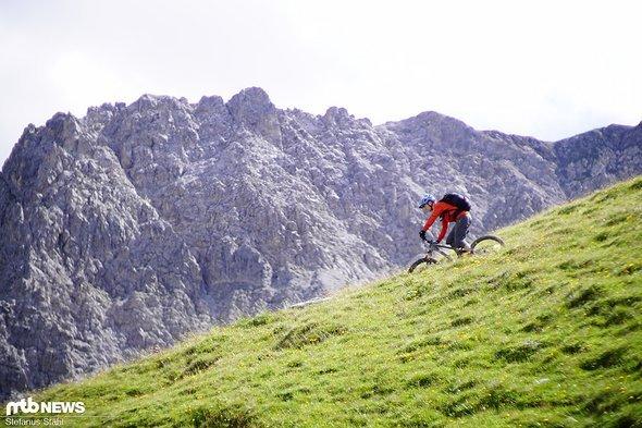 ... es gehört nicht viel zu echtem Trailglück am Berg