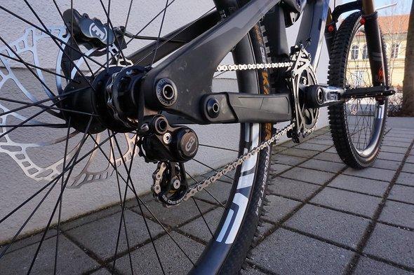 Auf die Schaltung wird am Bikepark-Bike verzichtet