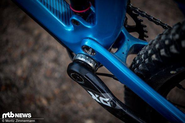 Wer sein Rad selbst serviced, wird sich über das geschraubte Tretlager freuen.