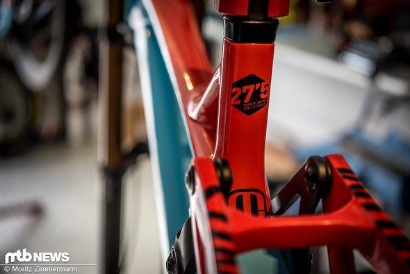 """Alle drei Team-Bikes rollen auf 27,5""""-Laufrädern."""