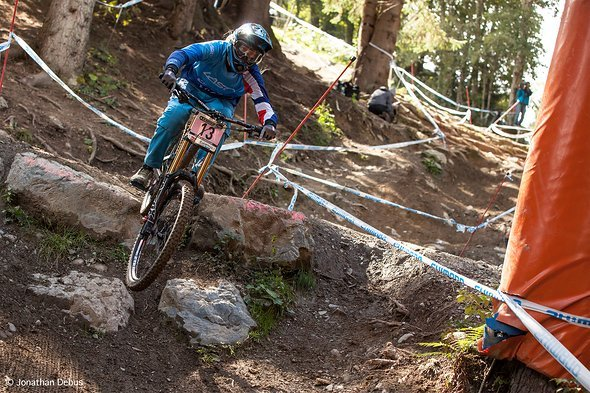 Anita beim Downhill-Worldcup in Leogang