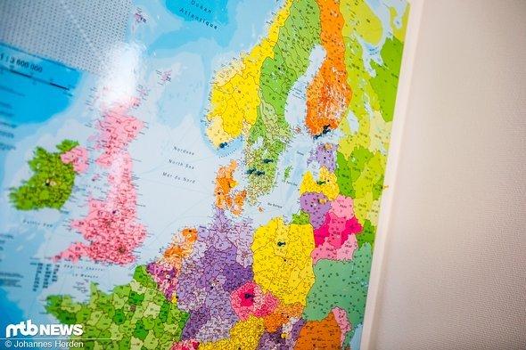 Die einzelnen Büros und Lager von Schwalbe in Europa