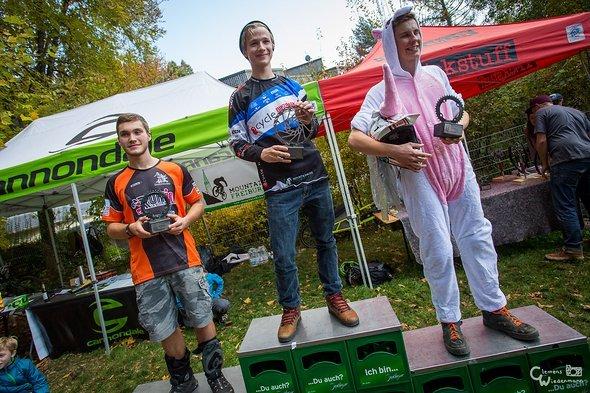 Die Up & Down Wertung der Junioren: 3. Samuel Grusezezack, 2. Paul Köhler, 1. Frederik Buch