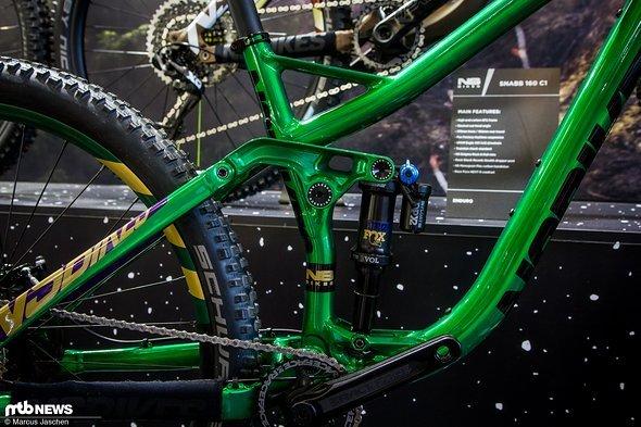 Die Hinterbau-Konstruktion ist von den anderen NS Bikes Fullys bekannt