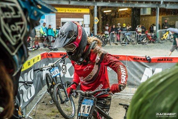 Paula Zibasa hatte aufgrund des einsetzenden Regens keine Chancen auf den Sieg.
