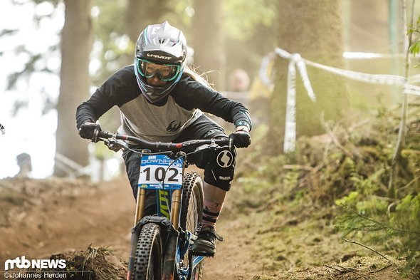 Katrin Karkhof holte in Winterberg leider zum erneuten Mal nur die Holzmedaille. Hier im trockenen Training