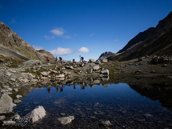 Kurz hinter dem Pass Suvretta ging es los in die insgesamt neunte Wertungsprüfung