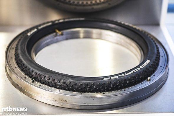 Der fertige Reifen, wie er aus der Mold kommt