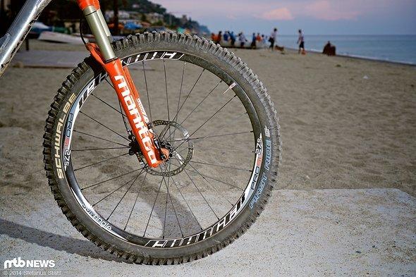 Alle Bikes wurden mit identischen Schwalbe Reifen aufgebaut