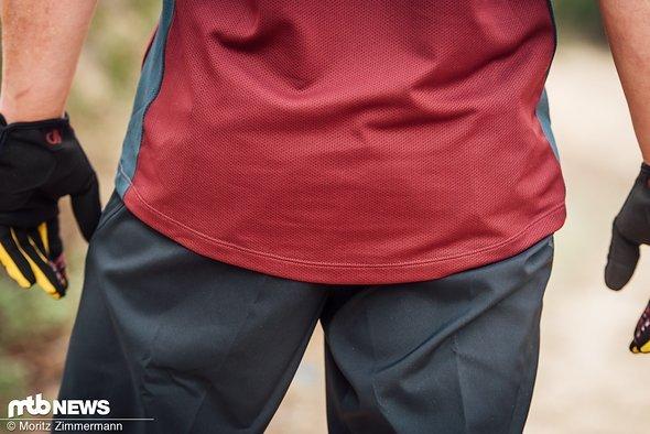 Im Rückenbereich ist das Trikot locker und angenehm lang geschnitten.