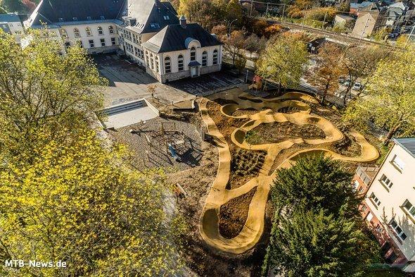 Ein Schulpumptrack in Luxemburg