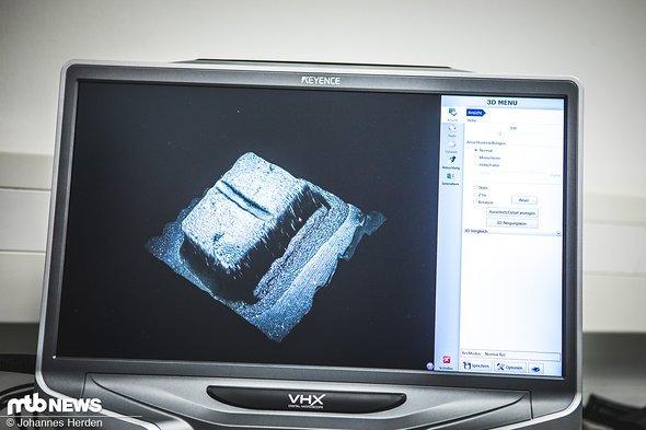 ... spektakulärer wird es mit dem 3D-Modell, welches automatisch mit dem Mikroskop erzeugt werden kann