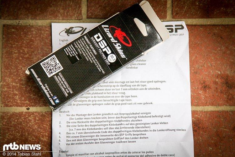 Die Montage der Lizard Skins DSP Griffe ist ein wenig anders als normal. Eine umfangreiche Anleitung sowie ein Video des Herstellers helfen bei der Installation.