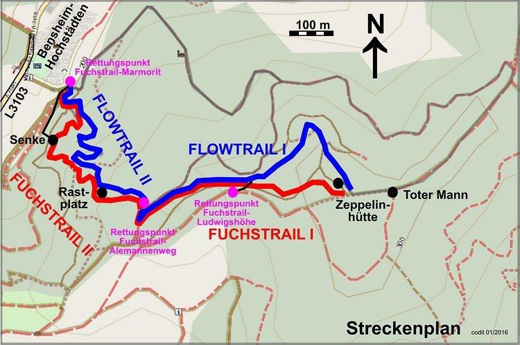 Streckenplan Fuchstrail