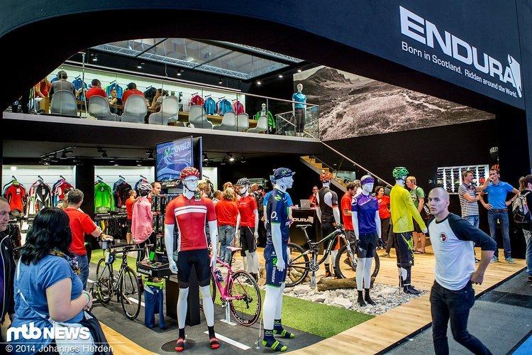 Der Eurobike-Stand von Endura, einem Bekleidungs-Label aus Schottland