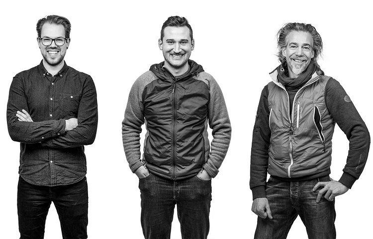 V.l.n.r.: Vincent Stoyhe, Antoine Litt, Jochen Weller