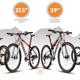 Vier Reifengrößen sieht Scott - mit jeweils verschiedenen Eigenschaften und Vor- und Nachteilen - für seine Mountainbike-Kollektion