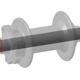 Bei axial verspannten Achsen wird die Kraft über die Stirnfläche eingeleitet