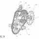 Das Patent umfasst zwei Versionen. In der ersten Version lässt sich die Kassette (20) axial auf der Abtriebswelle verschieben.